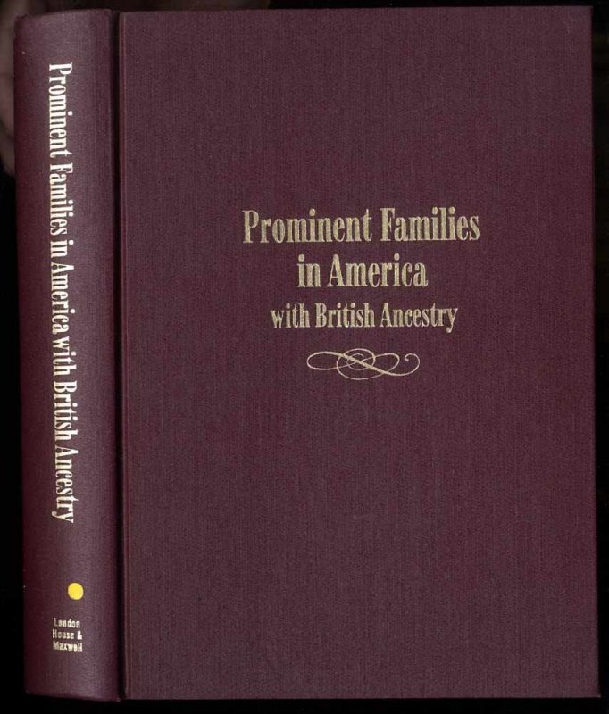 Image for PROMINENT FAMILIES IN AMERICA WITH BRITISH ANCESTRY