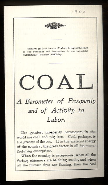 Image for COAL A BAROMETER OF PROSPERITY AND OF ACTIVITY OF LABOR.