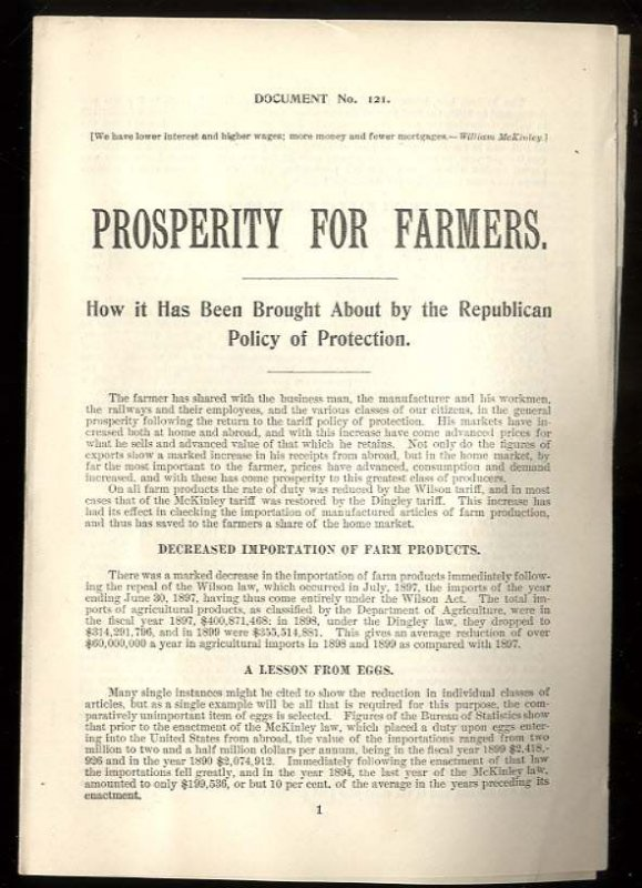 Image for PROSPERITY FOR FARMERS HOW IT HAS BEEN BROUGHT ABOUT BY THE REPUBLICAN POLICY OF PROTECTION