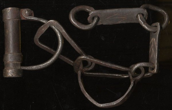 Image for CIVIL WAR SET OF WROUGHT IRON SHACKLES [MANACLES], SAID TO HAVE BEEN BROUGHT BACK FROM THE CIVIL WAR BY AN OFFICER IN THE TENTH LEGION.