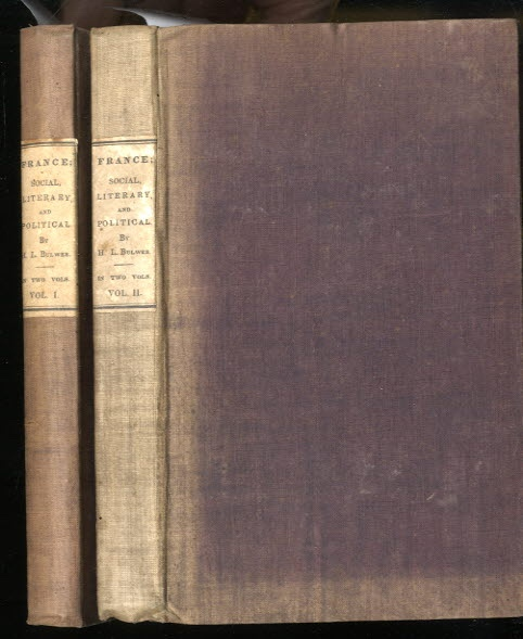 Image for FRANCE, SOCIAL, LITERARY, POLITICAL (COMPLETE IN TWO VOLUMES)