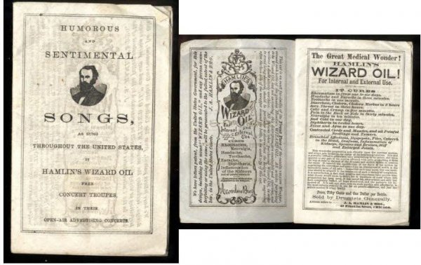 Image for HUMOROUS AND SENTIMENTAL SONGS AS SUNG THROUGHOUT THE UNITED STATES FOR HAMLIN'S WIZARD OIL