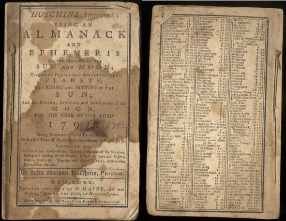 Image for HUTCHIN'S IMPROVED: BEING AN ALMANACK AND EPHEMERIS. 1792