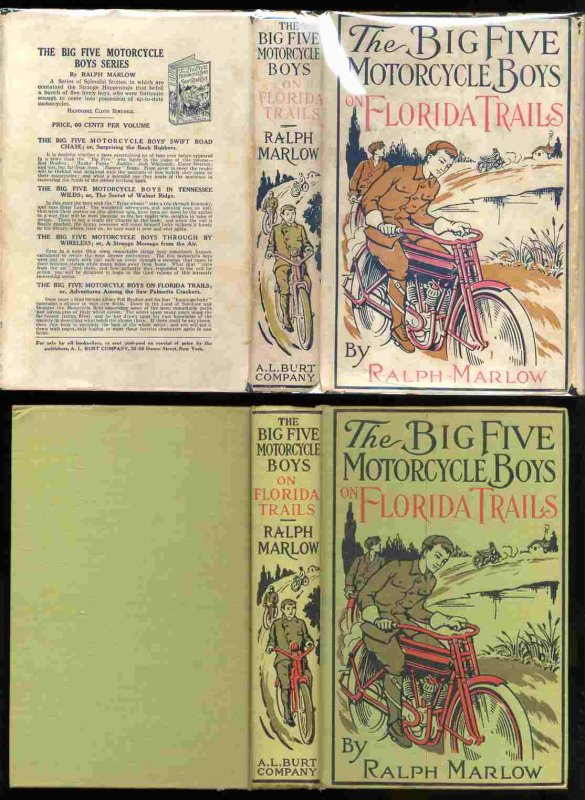Image for THE BIG FIVE MOTORCYCLE BOYS ON FLORIDA TRAILS; OR, ADVENTURES AMONG THE SAW PALMETTO CRACKERS [G]