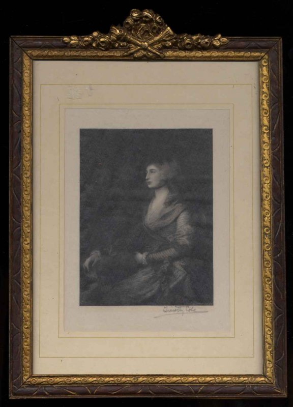 Image for SIGNED PORTRAIT OF MRS SIDDONS BY THOMAS GAINSBOROUGH [G] [Lbc]