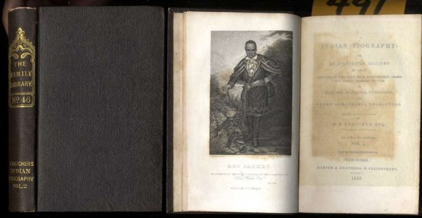 Image for INDIAN BIOGRAPHY: OR, AN HISTORICAL ACCOUNT OF THOSE INDIVIDUALS WHO HAVE BEEN DISTINGUISHED AMONG THE NORTH AMERICAN NATIVES AS ORATORS, WARRIORS, STATESMEN, AND OTHER REMARKABLE CHARACTERS. [CT IN 2 VOLS]