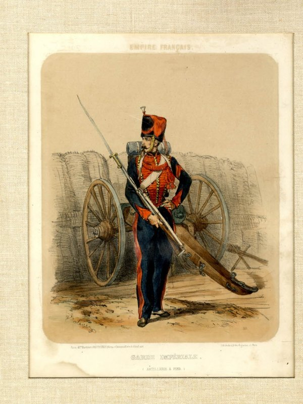 Image for 1850'S COLOR LITHOGRAPH OF A FRENCH IMPERIAL GUARD [FRENCH EMPIRE] [Lbc]