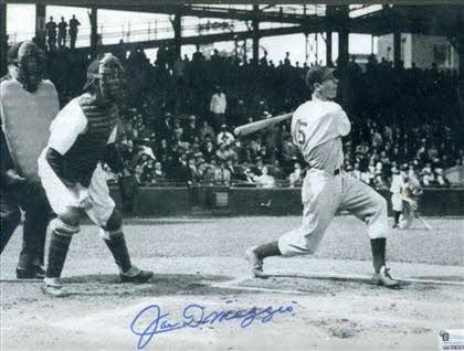 Image for 8 X 10 PHOTO BOLDLY SIGNED BY JOE DIMAGGIO, FRAMED WITH CERT [LBC]