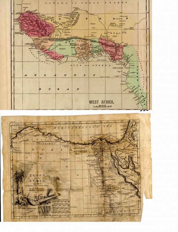 Image for 6 MAPS OF EGYPT AND AFRICA 1768- 1850 [LBC]