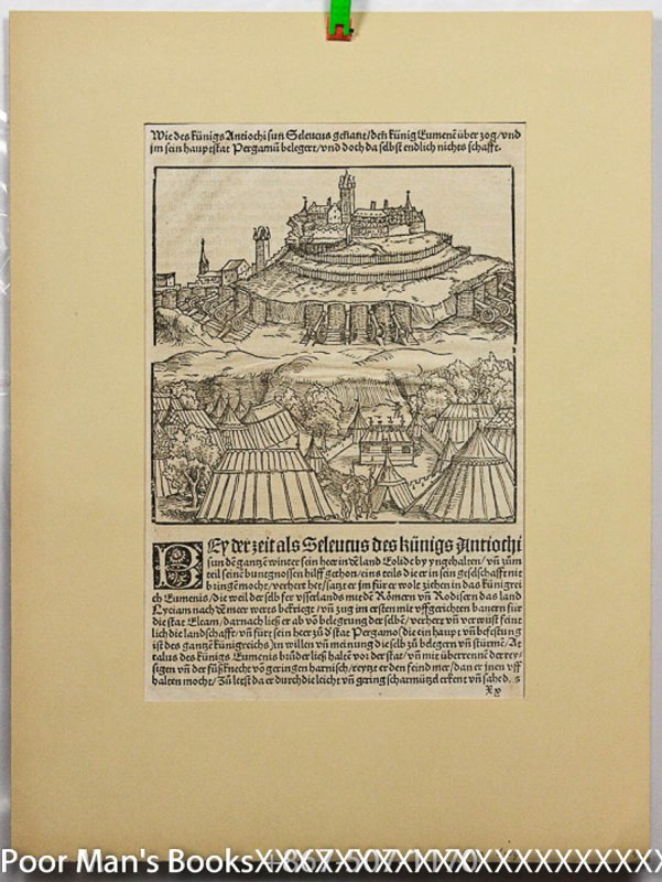 Image for WOODCUT LEAF FROM 1532 LIVY LARGE ILLUSTRATION ON BOTH SIDES