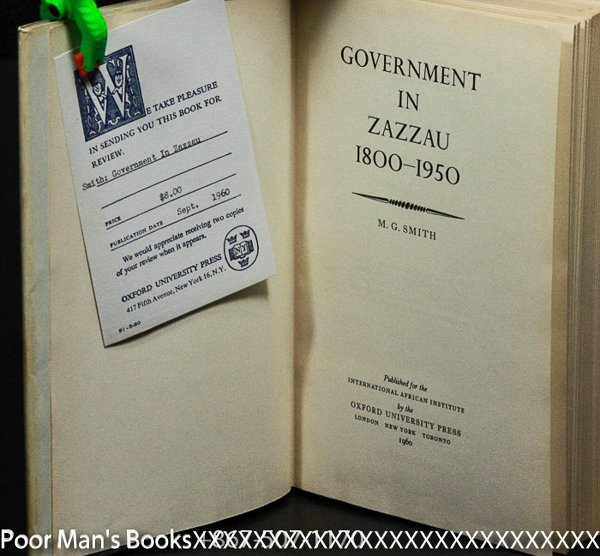 Image for GOVERNMENT IN ZAZZAU 1800-1950