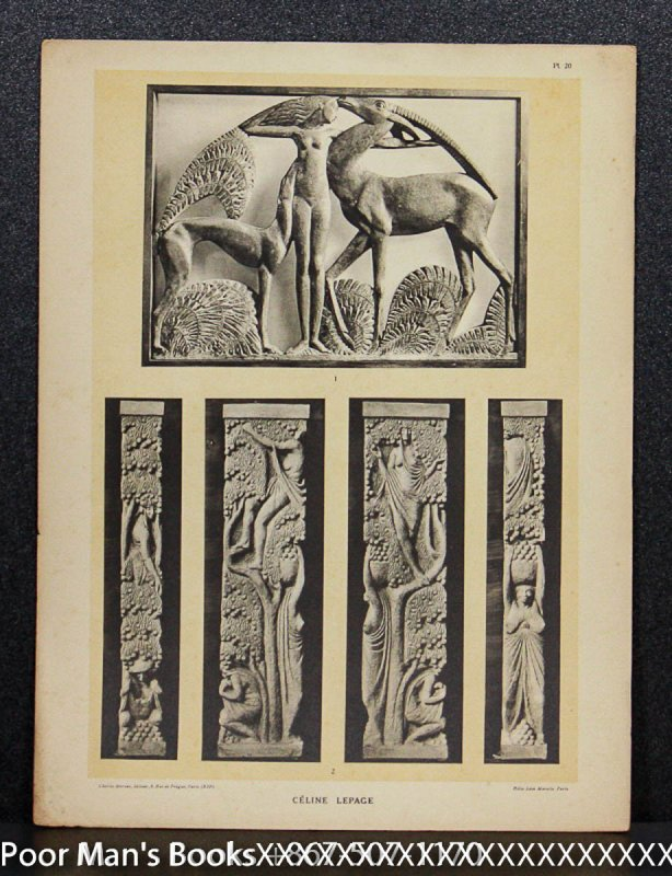 Image for 9 HELIOTYPE FOLIO SCULPTURAL PLATES CIRCA 1925 [LBC]