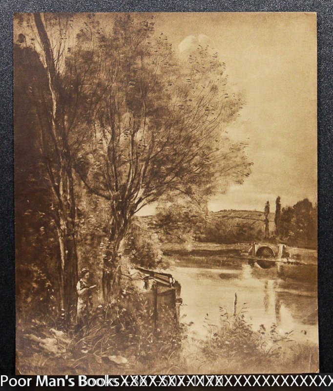 "Image for 16 X 19"" COROT PRINT ""LANDSCAPE NEAR CHANTILLY"" [Lbc]"
