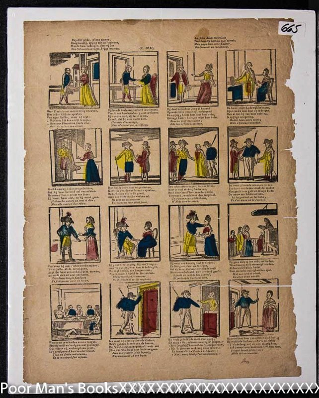 Image for 18TH CENTURY DUTCH HAND COLORED COMIC STRIP