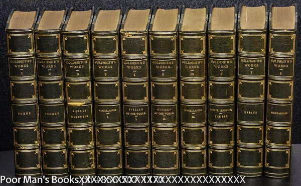Image for 10 VOLS CT. GOLDSMITH, OLIVER. THE WORKS. FINE LEATHER BINDING