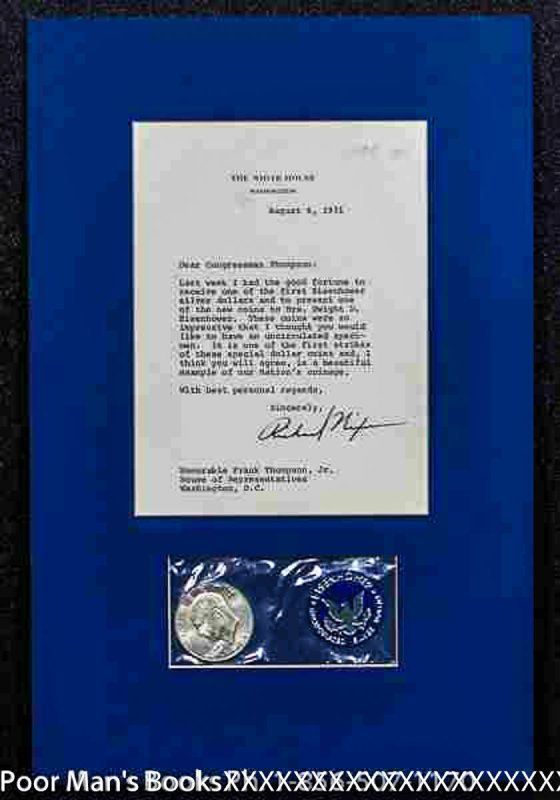 Image for RICHARD NIXON, TLS TO REP. FRANK THOMPSON. WITH PROOF 1971 SILVER DOLLAR