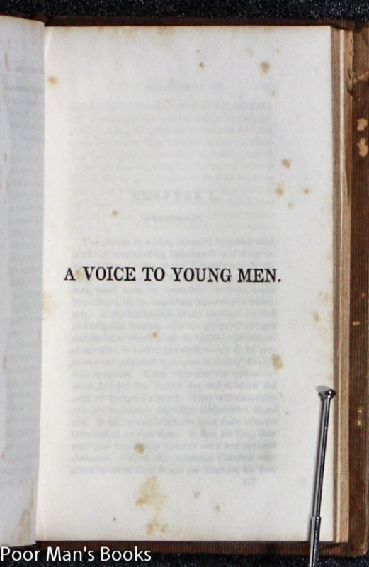 Image for A VOICE TO YOUTH, ADDRESSED TO YOUNG MEN AND YOUNG LADIES