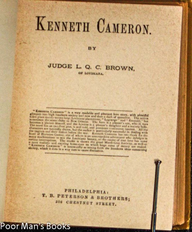 Image for KENNETH CAMERON.