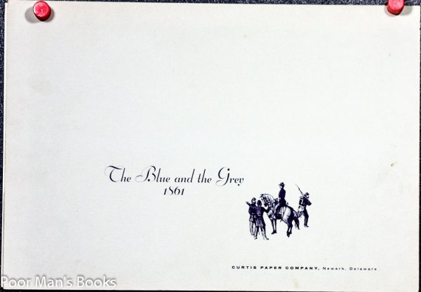 Image for BLUE AND THE GRAY, 1861 [LARGE PLATES]