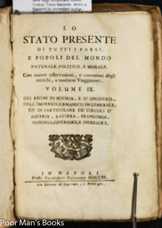 Image for LOT OF 7 OLD ITALIAN 18TH AND 19TH CENTURY LAW BOOKS