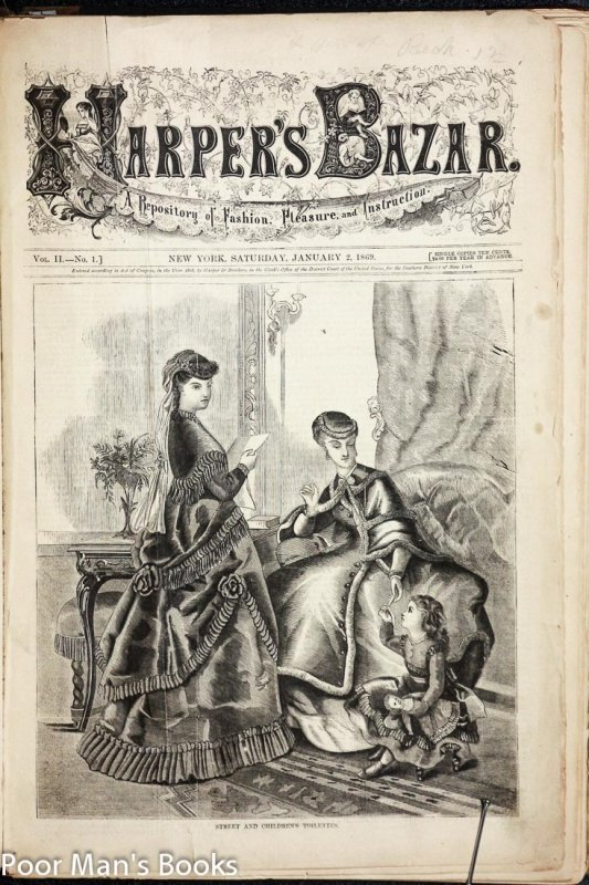 Image for HARPER'S BAZAR [BAZAAR] , A REPOSITORY OF FASHION, PLEASURE AND INSTRUCTION. 1869 JAN-DEC