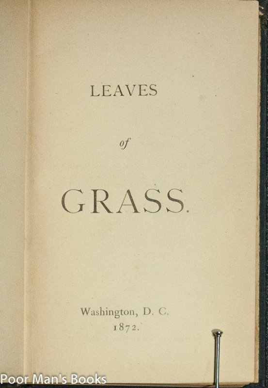 Image for LEAVES OF GRASS; PASSAGE TO INDIA; AFTER ALL NOT TO CREATE ONLY;