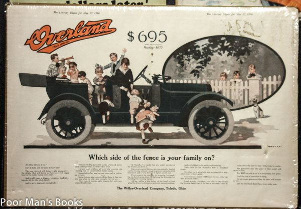 "Image for WILLYS OVERLAND 1916 17.5 X 12"" ADVERTISING PIECE WITH 3 OTHERS."