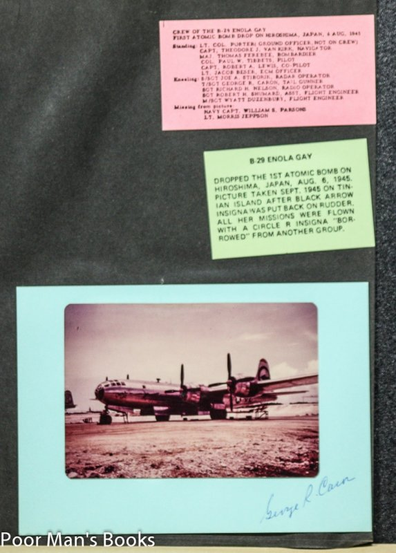 Image for AUTOGRAPHS OF THREE CELEBRATED WW II AIRMEN, ENOLA GAY, BOCK'S CAR, BATTLE OF MIDWAY.
