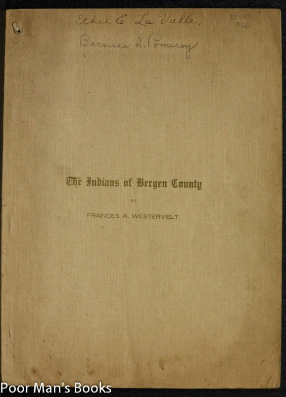 Image for THE INDIANS OF BERGEN COUNTY, NEW JERSEY