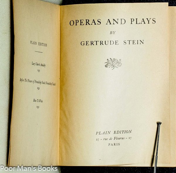 Image for OPERAS AND PLAYS, PLAIN EDITION [LTD IN SLIPCASE]