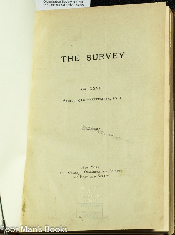 Image for THE SURVEY VOLUME 28, APRIL TO SEPTEMBER 1912