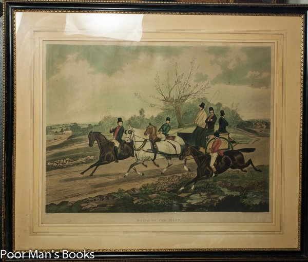 "Image for HAND COLORED STONE LITHOGRAPH. ""GOING TO THE MEET."""