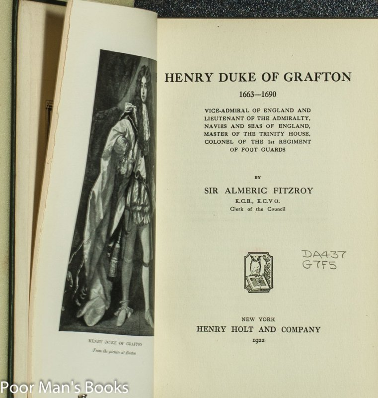 Image for HENRY DUKE OF GRAFTON 1663-1690