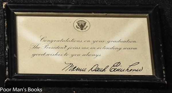 Image for PRINTED CONGRATUALTORY NOTE ON GRADUATION- SIGNED MAMIE EISENHOWER. [LBC}