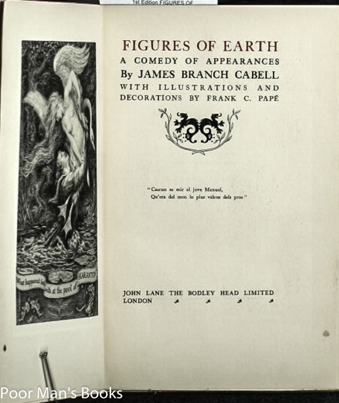 Image for FIGURES OF EARTH - A COMEDY OF APPEARANCES.
