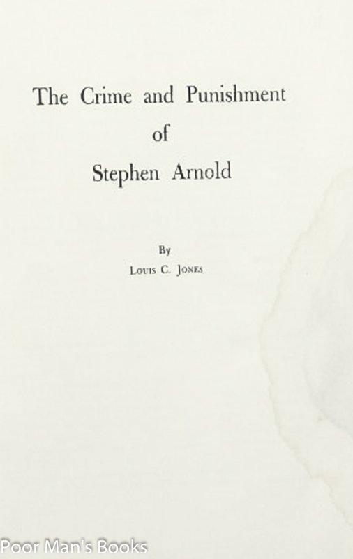 Image for CRIME AND PUNISHMENT OF STEPHEN ARNOLD