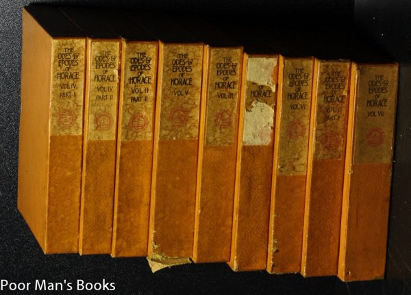 Image for ODES AND EPODES OF HORACE [9 OF 10 SLIPCASED VOLUMES]