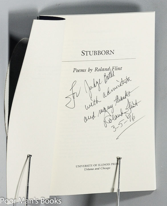 Image for STUBBORN [SIGNED POETRY]