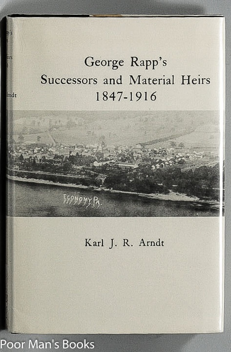 Image for GEORGE RAPP'S SUCCESSORS AND MATERIAL HEIRS 1847-1916