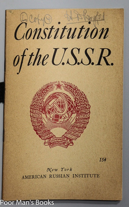 Image for CONSTITUTION OF THE U.S.S.R.