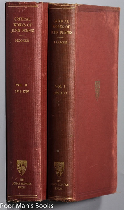 Image for THE CRITICAL WORKS OF JOHN DENNIS [CT IN 2 VOLS]