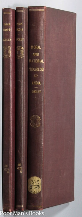 Image for EAST INDIA (PROGRESS AND CONDITION). STATEMENT EXHIBITING THE MORAL AND MATERIAL PROGRESS AND CONDITION OF INDIA DURING THE YEAR 1905-06. FORTY-SECOND NUMBER...1907-08, FORTY-FOURTH NUMBER...1908-09, FORTY-FIFTH NUMBER [3 VOLUMES]