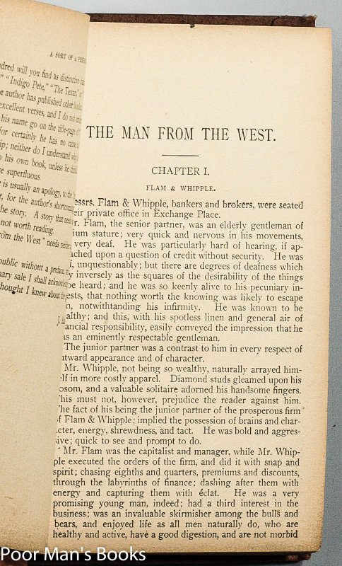 Image for THE MAN FROM THE WEST: DESCRIPTIVE OF ADVENTURES FROM THE CHAPARRAL TO WALL STREET
