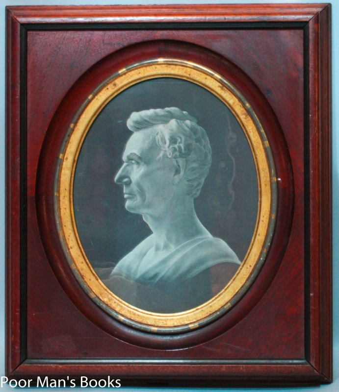 Image for PERIOD MAHOGANY AND GILT FRAME WITH MEMORIAL PORTRATIT OF ABRAHAM LINCOLN C1860-80