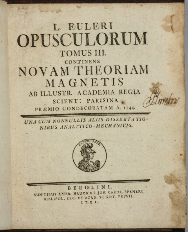 Image for OPUSCULA VARII ARGUMENTI. VOLUMES 1 AND 3 (OF 3)