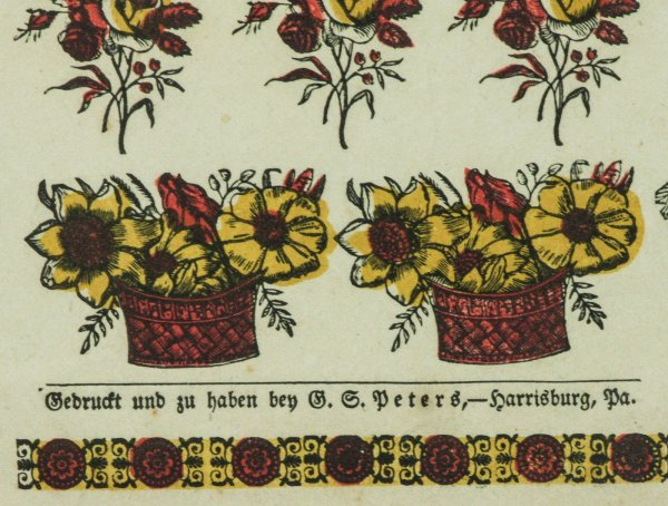 Pennsylvania German Fraktur, A Taufschein Or Birth And Baptismal ...