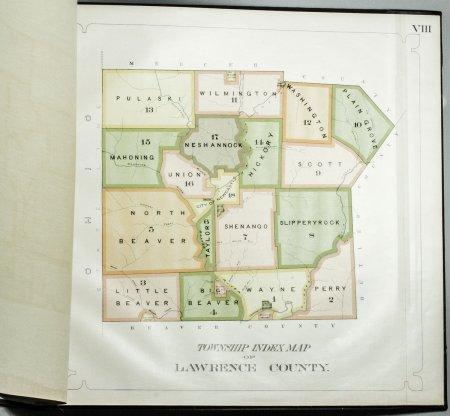 Image for WARRANTEE ATLAS OF LAWRENCE COUNTY, PENNSYLVANIA 1909