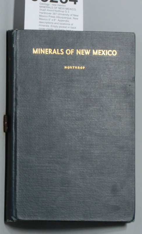 Image for MINERALS OF NEW MEXICO