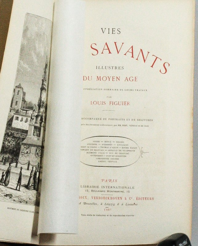 Image for VIES DES SAVANTS ILLUSTRÉS DU MOYEN AGE.