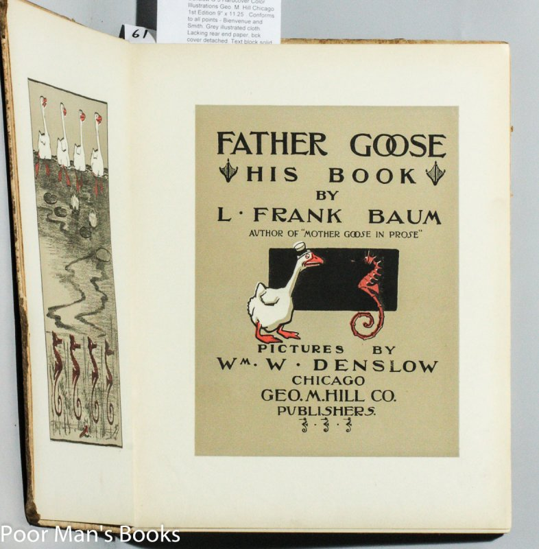 Image for FATHER GOOSE; HIS BOOK